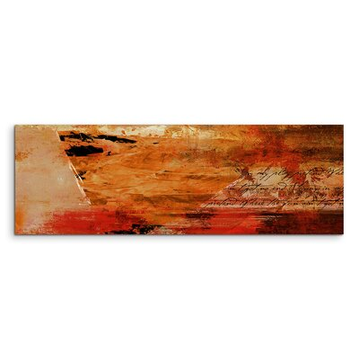 PaulSinusArt Enigma Panorama Abstrakt 758 Painting Print on Canvas