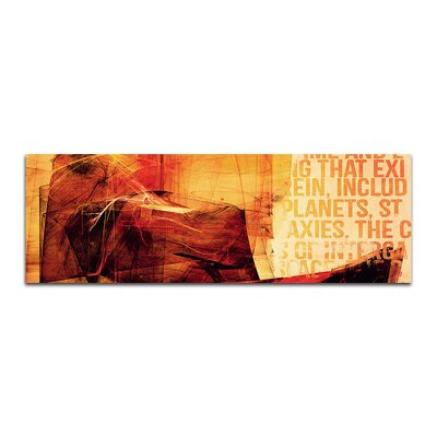 PaulSinusArt Enigma Panorama Abstrakt 214 Painting Print on Canvas