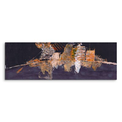 PaulSinusArt Enigma Panorama Abstrakt 910 Painting Print on Canvas