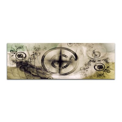 PaulSinusArt Enigma Panorama Abstrakt 410 Painting Print on Canvas