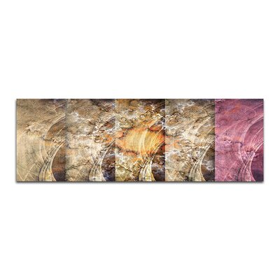 PaulSinusArt Enigma Panorama Abstrakt 415 Painting Print on Canvas