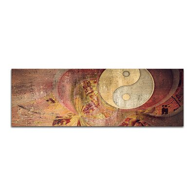 PaulSinusArt Enigma Panorama Abstrakt 426 Painting Print on Canvas