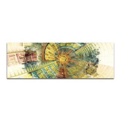 PaulSinusArt Enigma Panorama Abstrakt 428 Painting Print on Canvas