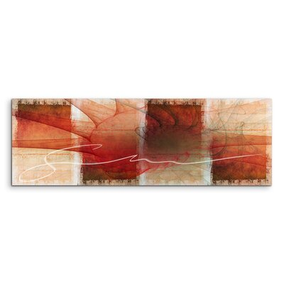 PaulSinusArt Enigma Panorama Abstrakt 1110 Painting Print on Canvas