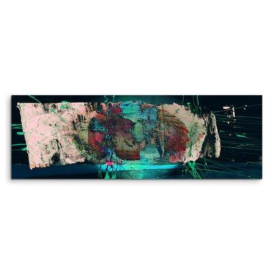 PaulSinusArt Enigma Panorama Abstrakt 1355 Painting Print on Canvas