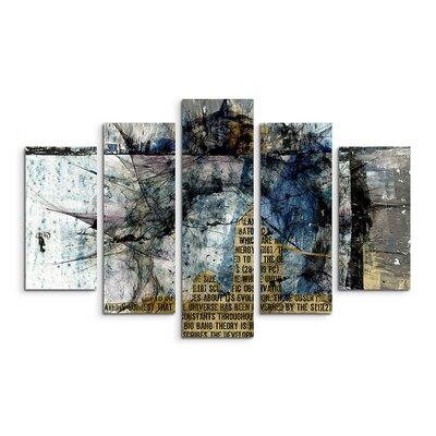 PaulSinusArt Enigma Abstrakt 1439 Painting Print on Canvas Set