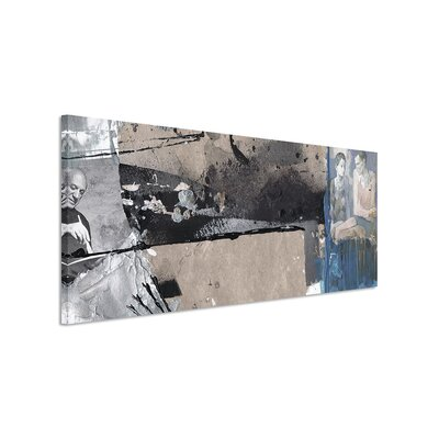 PaulSinusArt Enigma Panorama Abstrakt 521 Painting Print on Canvas