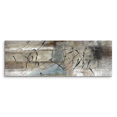 PaulSinusArt Enigma Panorama Abstrakt 722 Painting Print on Canvas