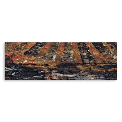 PaulSinusArt Enigma Panorama Abstrakt 889 Painting Print on Canvas
