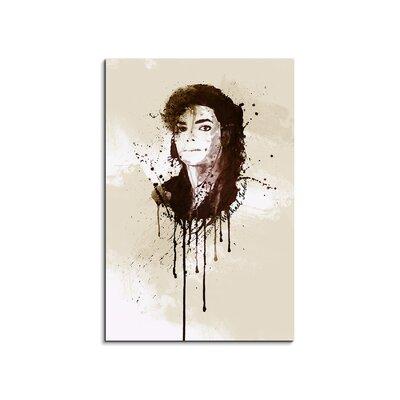 PaulSinusArt Enigma Michael Jackson Painting Print on Canvas