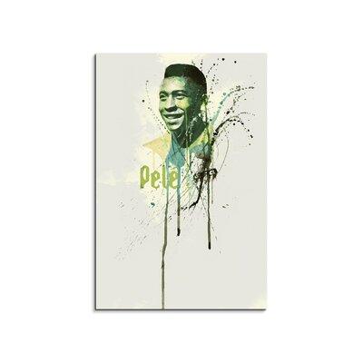 PaulSinusArt Enigma Pelé Painting Print on Canvas
