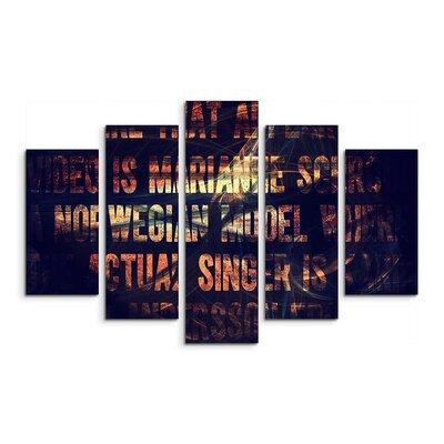 PaulSinusArt Enigma Skulptur Abstrakt 1045 Painting Print on Canvas Set