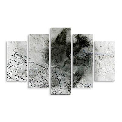 PaulSinusArt Enigma Skulptur Abstrakt 1256 Painting Print on Canvas Set