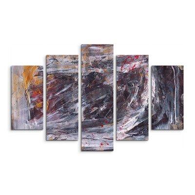 PaulSinusArt Enigma Abstrakt 845 Painting Print on Canvas Set