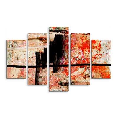 PaulSinusArt Enigma Abstrakt 847 Painting Print on Canvas Set