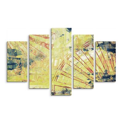 PaulSinusArt Enigma Abstrakt 857 Painting Print on Canvas Set