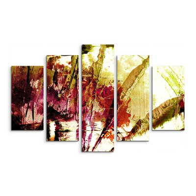 PaulSinusArt Enigma Abstrakt 860 Painting Print on Canvas Set
