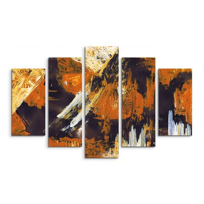 PaulSinusArt Enigma Abstrakt 862 Painting Print on Canvas Set