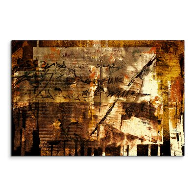 PaulSinusArt Enigma Abstrakt 938 Painting Print on Canvas