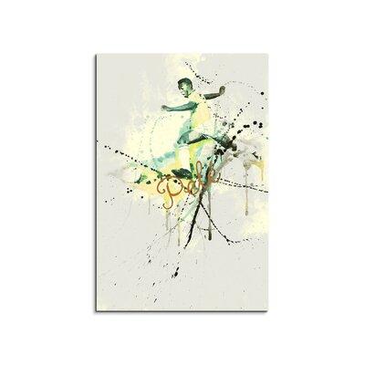 PaulSinusArt Enigma Pelé VIII Painting Print on Canvas