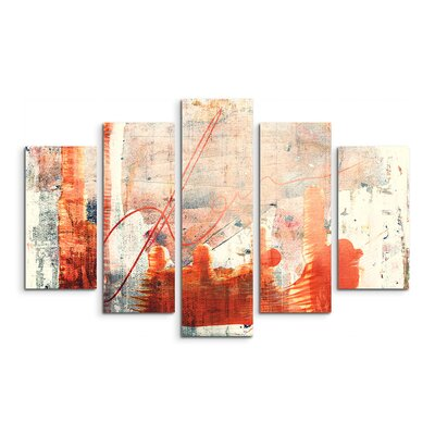 PaulSinusArt Enigma Abstrakt 827 Painting Print on Canvas Set