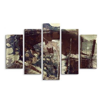 PaulSinusArt Enigma Abstrakt 829 Painting Print on Canvas Set