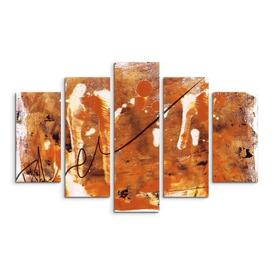 PaulSinusArt Enigma Abstrakt 832 Painting Print on Canvas Set