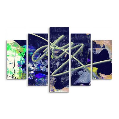 PaulSinusArt Enigma Abstrakt 833 Painting Print on Canvas Set