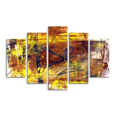 PaulSinusArt Enigma Abstrakt 834 Painting Print on Canvas Set