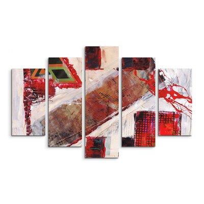 PaulSinusArt Enigma Abstrakt 588 Painting Print on Canvas Set