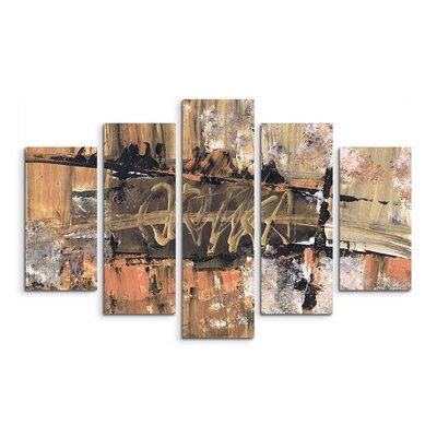 PaulSinusArt Enigma Abstrakt 589 Painting Print on Canvas Set
