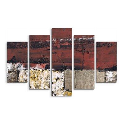 PaulSinusArt Enigma Abstrakt 600 Painting Print on Canvas Set