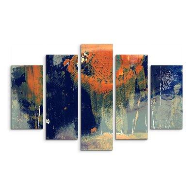 PaulSinusArt Enigma Abstrakt 989 Painting Print on Canvas Set