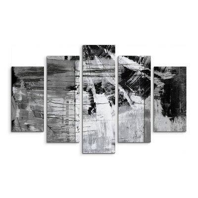 PaulSinusArt Enigma Abstrakt 990 Painting Print on Canvas Set