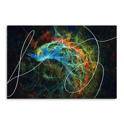 PaulSinusArt Enigma Abstrakt 1238 Painting Print on Canvas