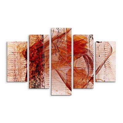 PaulSinusArt Enigma Abstrakt 1415 Painting Print on Canvas Set
