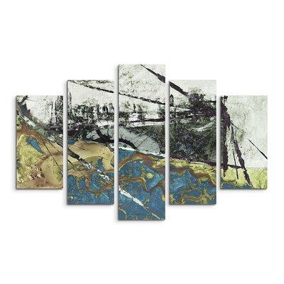 PaulSinusArt Enigma Abstrakt 566 Painting Print on Canvas Set