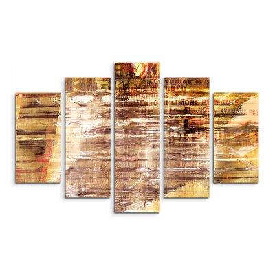 PaulSinusArt Enigma Abstrakt 569 Painting Print on Canvas Set