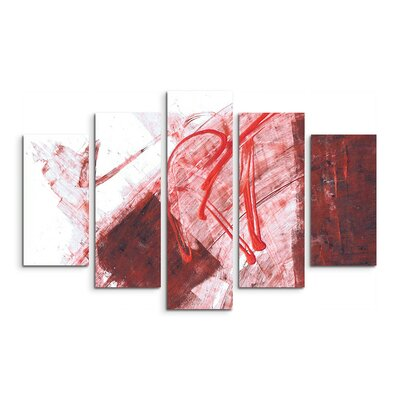 PaulSinusArt Enigma Abstrakt 571 Painting Print on Canvas Set
