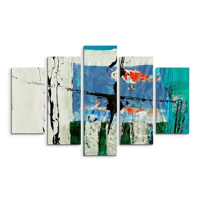 PaulSinusArt Enigma Abstrakt 573 Painting Print on Canvas Set