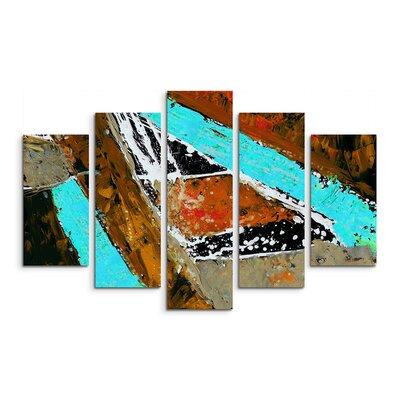 PaulSinusArt Enigma Abstrakt 637 Painting Print on Canvas Set