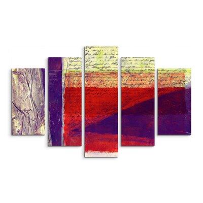 PaulSinusArt Enigma Abstrakt 574 Painting Print on Canvas Set