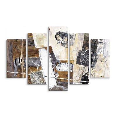 PaulSinusArt Enigma Abstrakt 575 Painting Print on Canvas Set