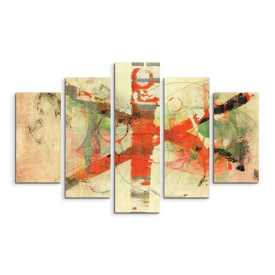 PaulSinusArt Enigma Abstrakt 770 Painting Print on Canvas Set