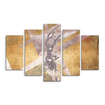 PaulSinusArt Enigma Abstrakt 781 Painting Print on Canvas Set