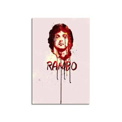 PaulSinusArt Enigma Rambo Painting Print on Canvas