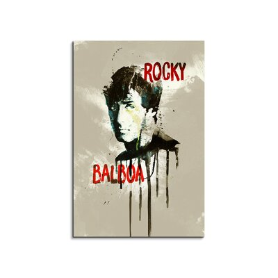 PaulSinusArt Enigma Rocky Balboa Painting Print on Canvas