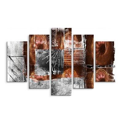 PaulSinusArt Enigma Abstrakt 793 Painting Print on Canvas Set