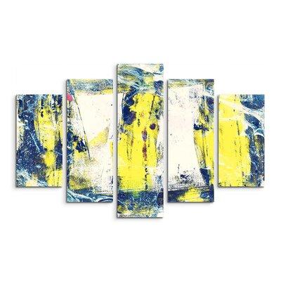 PaulSinusArt Enigma Abstrakt 962 Painting Print on Canvas Set