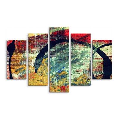 PaulSinusArt Enigma Abstrakt 963 Painting Print on Canvas Set